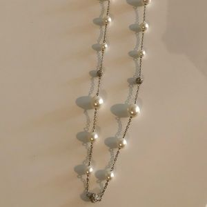 Pearl and Pave Crystal Necklace